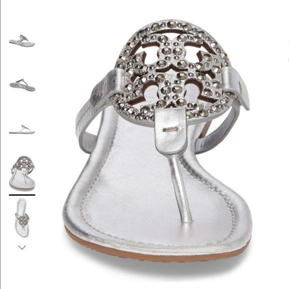 a8b5db1fd0bc6 TORY BURCH Miller Embellished Sandal Size 8